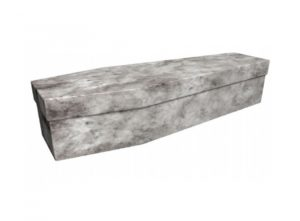 Cardboard coffin - Grey marble - 3671