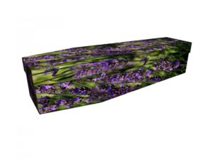 Cardboard coffin - Lavender Flower - 3853
