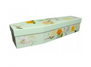 Cardboard coffin - Lily and rose - 3636