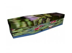 Cardboard coffin - Lily pond - 3964