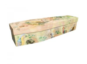 Cardboard coffin - Menagerie of animals - 3736