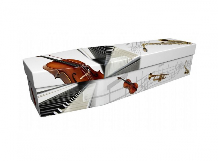Cardboard coffin - Musical instruments with bass - 3795