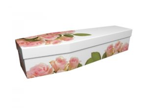 Cardboard Coffin - Pink Rose - 3594