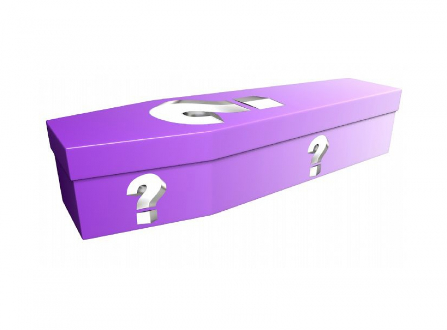 Cardboard coffin - Question mark - 3885