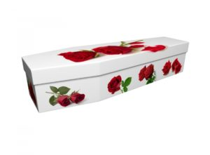 Cardboard coffin - Red Roses - 3866