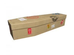 Cardboard coffin - Return to Sender Stickers - 3848