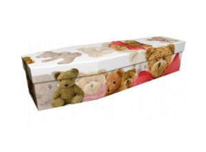 Cardboard coffin - Teddy bear - 3993