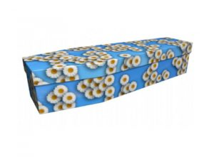 Cardboard coffin - White daisy 1 - 3918
