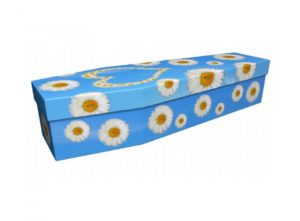Cardboard coffin - White daisy - 3917