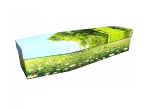 Cardboard coffin - Wild flower meadow - 3814