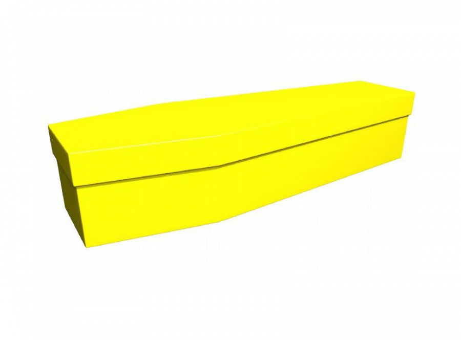 Cardboard coffin - Yellow (CR-2) - 3698