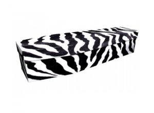 Cardboard coffin - Zebra stripes - 3812