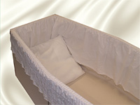 Calico lining with a cotton frill and cotton pillow