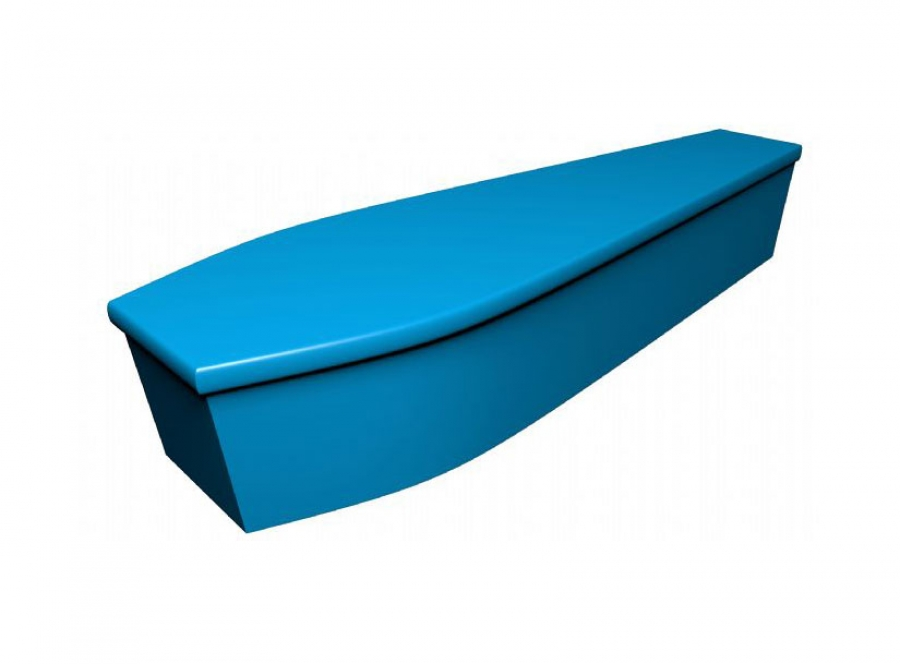 Wooden coffin - Aqua blue (CR-4) - 4061