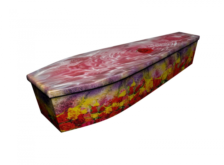 Wooden coffin - Bath of Roses - 4261