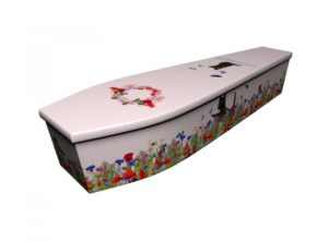 Wooden coffin - Black Cats Blossom - 4245