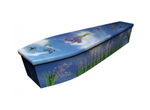 Wooden coffin - Bluebell Butterflies - 4161