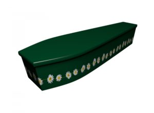 Wooden coffin - British Green Daisy - 4164
