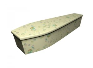 Wooden coffin - Bubbles - 4165