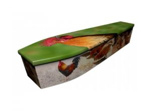 Wooden coffin - Chickens - 4074