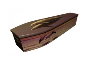 Wooden coffin - Dolphin Sunset - 4178