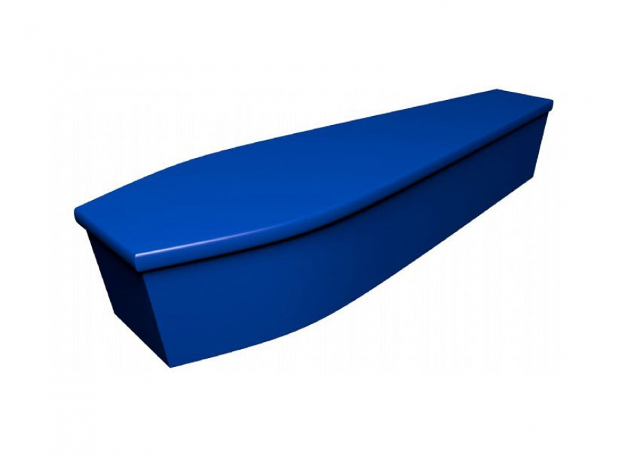 Wooden coffin - Electric blue - 4143