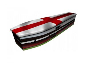 Wooden coffin - Football with England flag - 4051