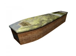 Wooden coffin - Gone Fishing - 4186