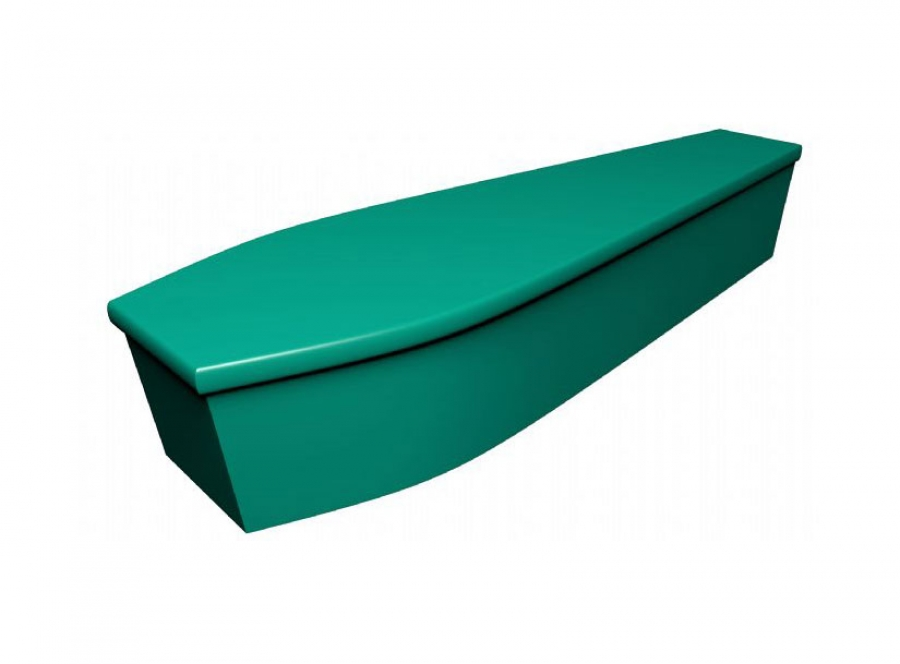 Wooden coffin - Green (CR-26) - 4053
