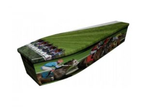 Wooden coffin - Horse racing - 4089