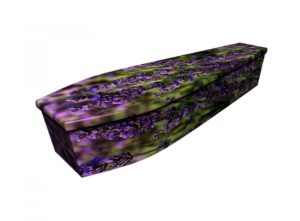 Wooden coffin - Lavender Flower - 4200
