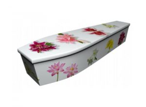 Wooden coffin - Lily - 4043