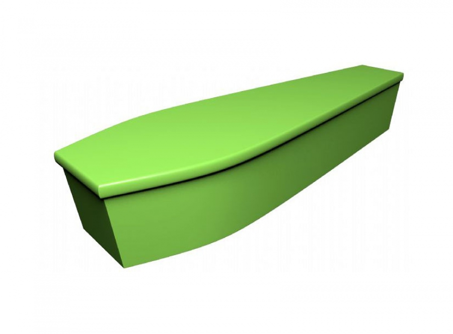 Wooden coffin - Lime green (CR-12) - 4058