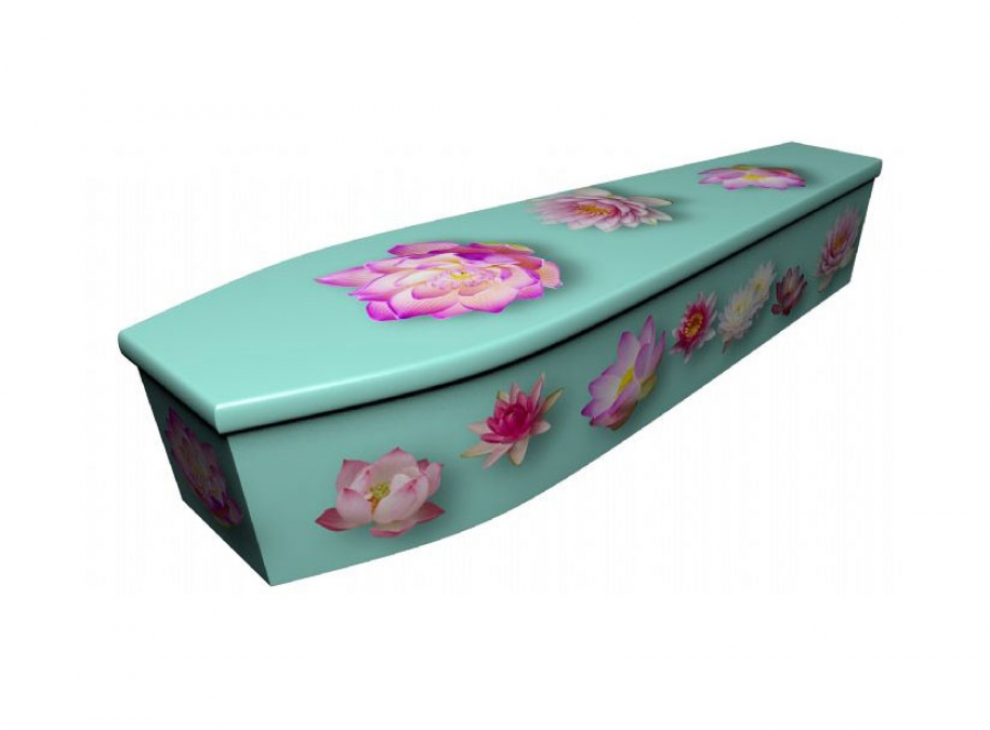 Wooden coffin - Lotus flower - 4097