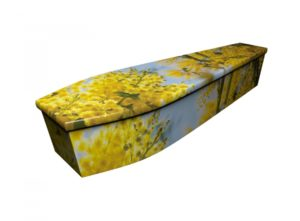 Wooden coffin - Mimosa Blossom - 4206