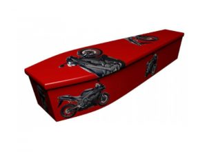 Wooden coffin - Motorbike - 4004