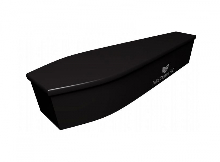 Wooden coffin - Police sergeant - 4102