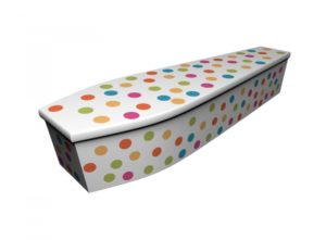 Wooden coffin - Polka Dot - 4218