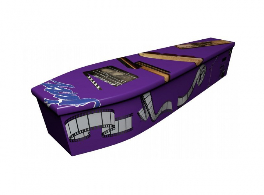 Wooden coffin - Purple Jazz - 4105