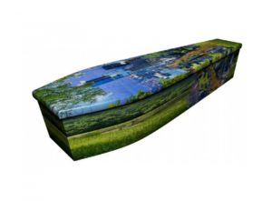 Wooden coffin - Puzzle Landscape - 4107