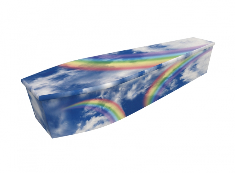 Wooden coffin - Rainbow - 4021