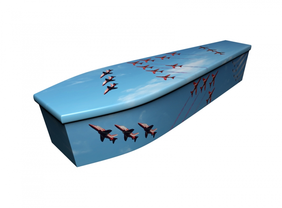 Wooden coffin - Red Arrow RAF - 4222