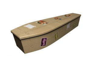 Wooden coffin - Return to Sender Stamps - 4225