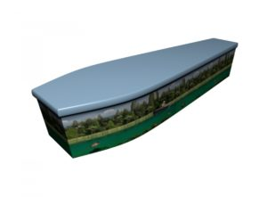 Wooden coffin - Riverbed with Carp - 4227