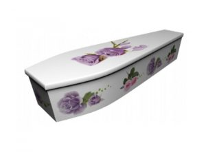Wooden coffin - Roses 2 - 4112