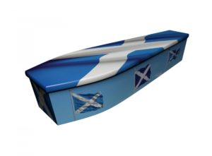 Wooden coffin - Scottish Flag - 4235
