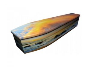 Wooden coffin - Seaside sunset - 4046
