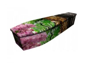 Wooden coffin - Seasonal leaves - 4115