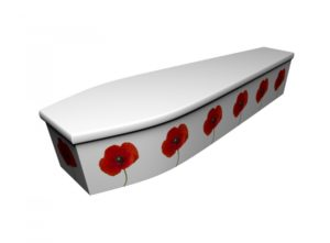 Wooden coffin - Single Poppy - 4239