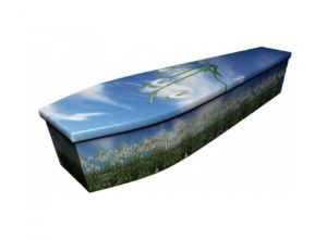 Wooden coffin - Snowdrop - 4118
